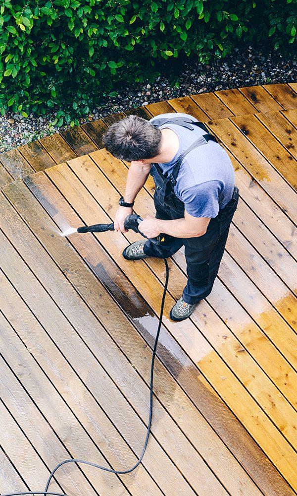 SprucedUp pressure washing decks and fences